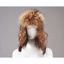 Suomiško stiliaus ausinė kepurė.