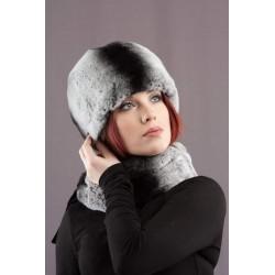 Moteriška kepurė pagaminta iš karališko triušio (rekso).
